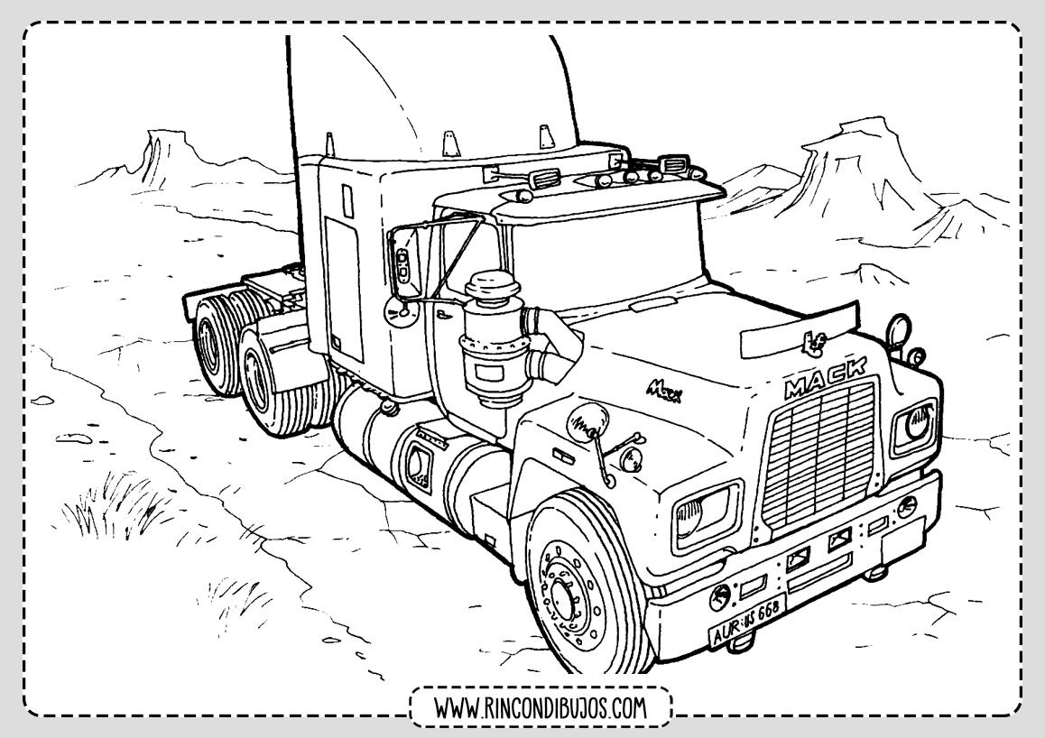Dibujos de Camiones Trailer Colorear
