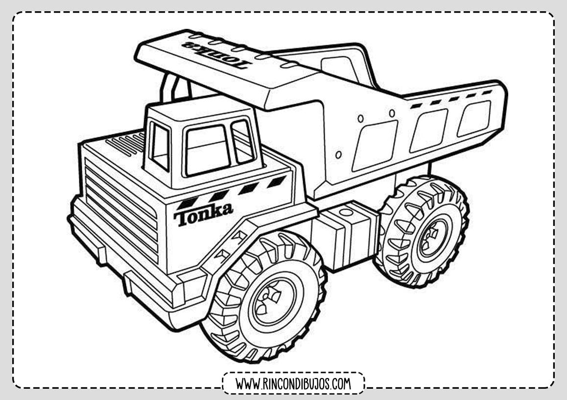 Dibujos de Camiones y Tractores Colorear