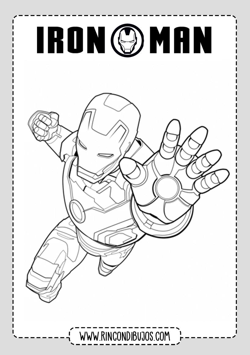 Dibujos de Colorear Iron Man