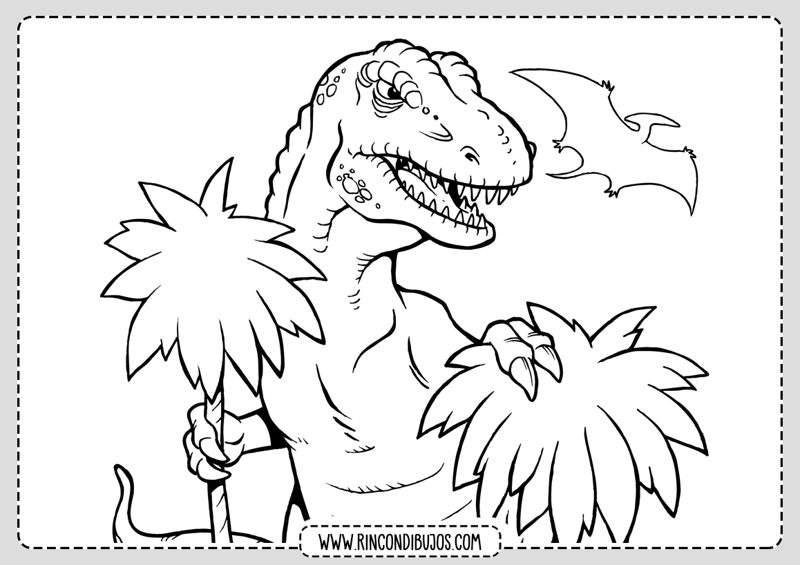 Dibujos de Dinosaurios para Pintar y Colorear