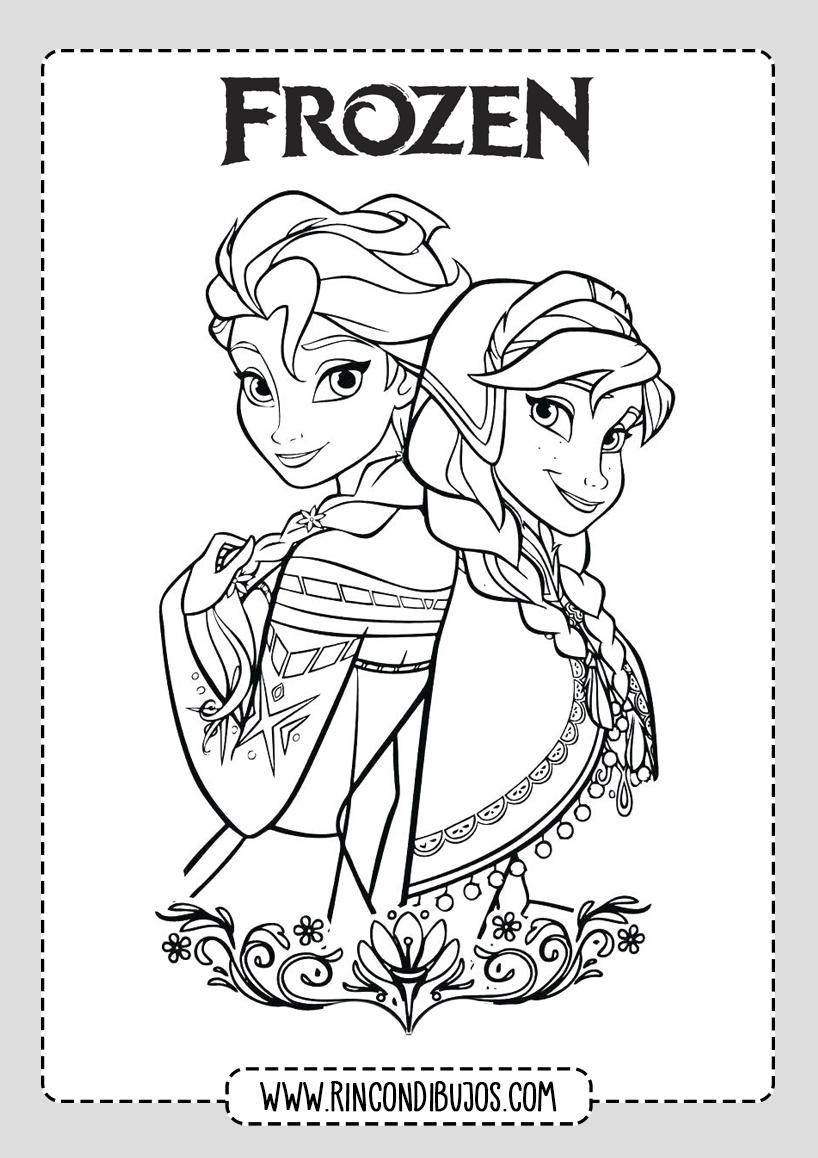 Dibujos De Frozen 2 Para Colorear Imprimir Rincon Dibujos