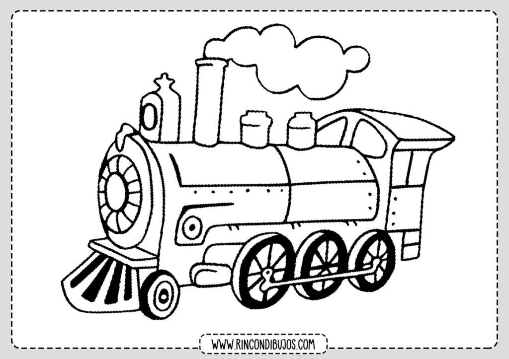 Dibujos de Locomotoras Colorear