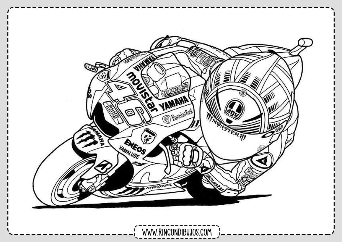 Dibujos de Motos para Niños