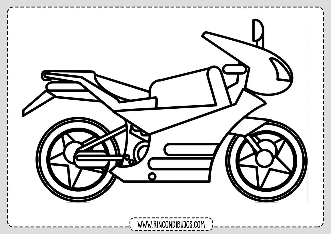 Dibujos de Motos para Pintar