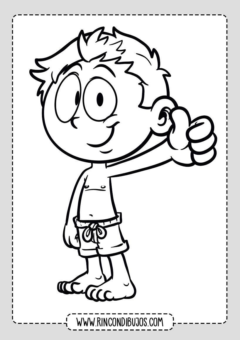 Dibujos de Niños Feliz