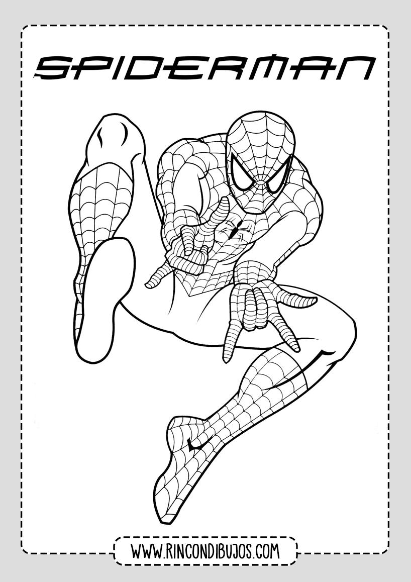Dibujos de Spiderman para Niños