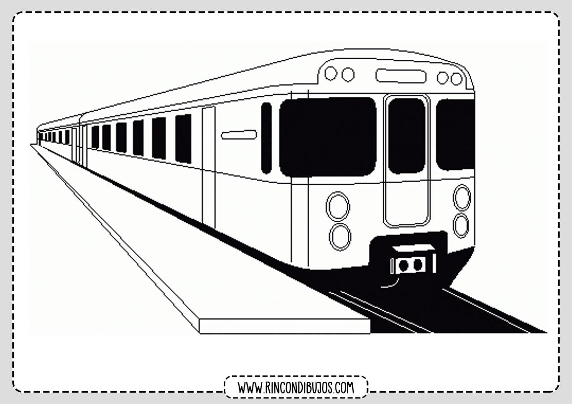Dibujos de Trenes Moderno Colorear