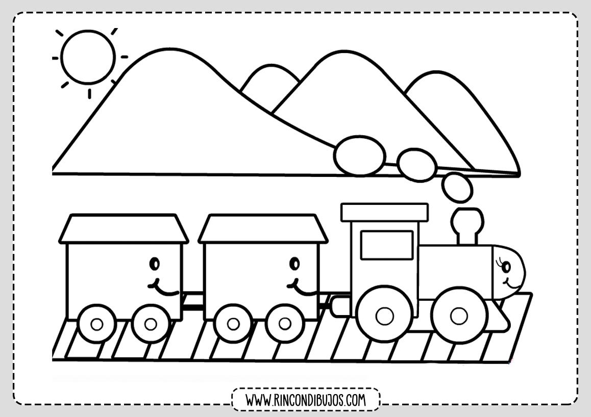 Dibujos de Trenes Para Niños Colorear