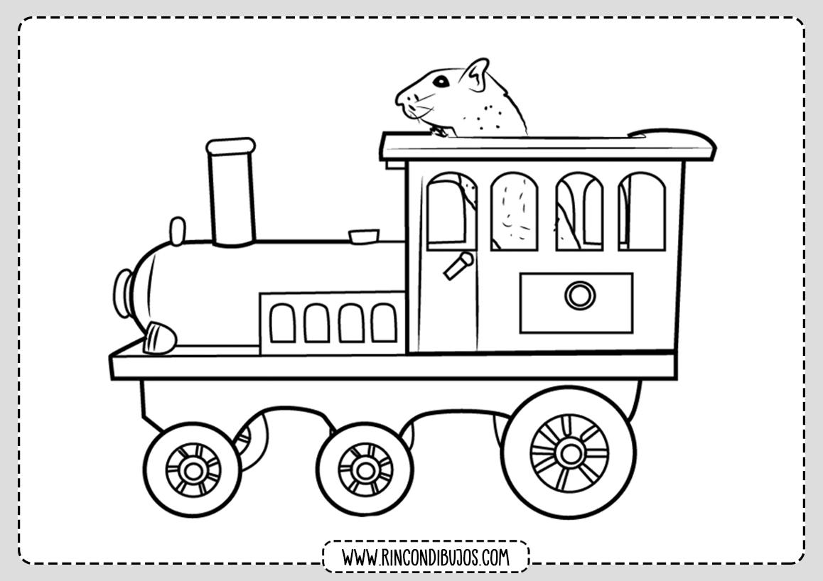 Dibujos de Trenes Para Pintar y Colorear