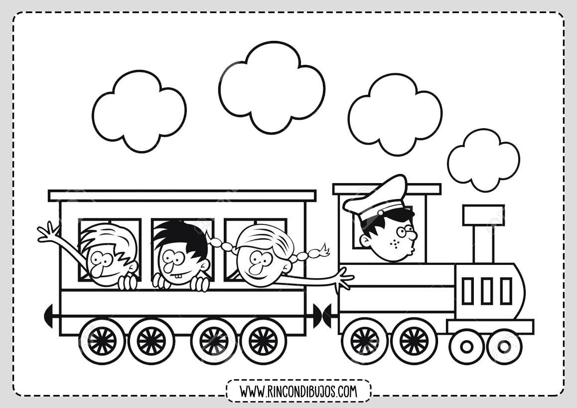 Dibujos de Trenes para Niños