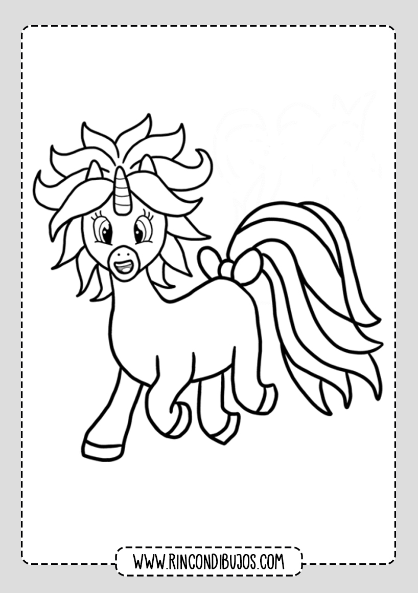 Dibujos de Unicornios Para Niños