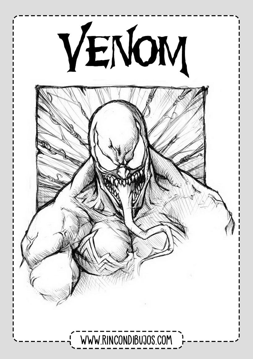 Dibujos de Venom Gratis Para Imprimir