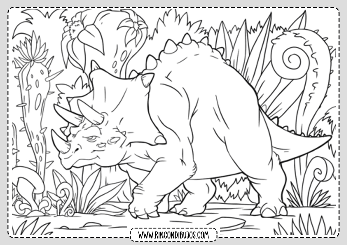 Dibujos de colorear de Dinosaurios
