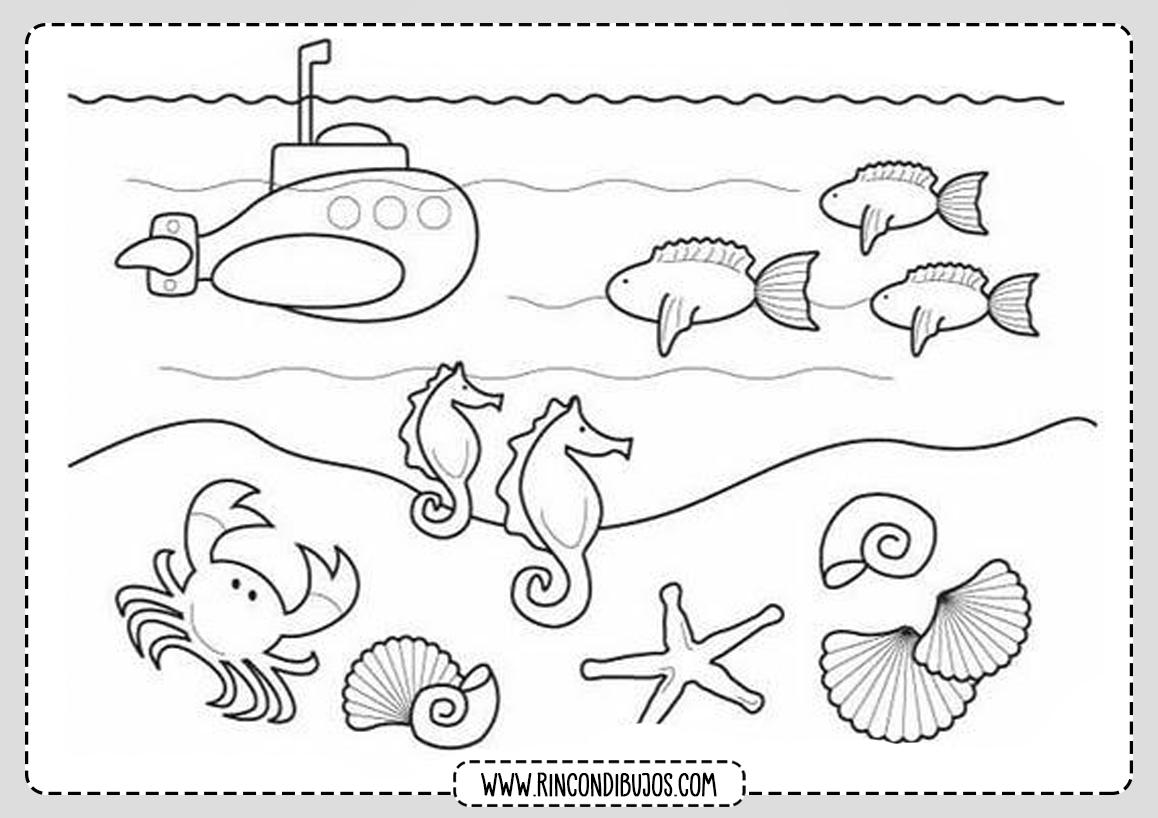 Dibujos del Mar para colorear