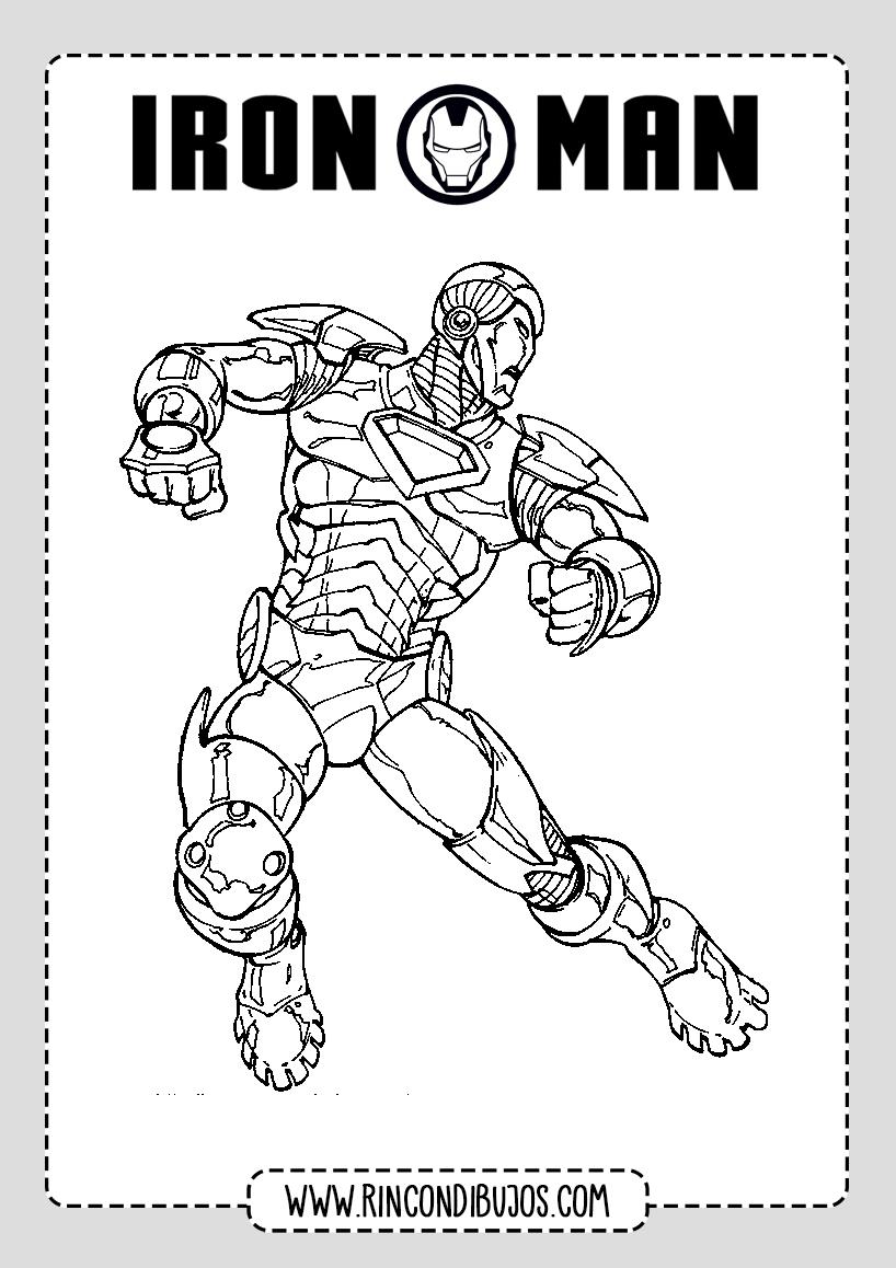 Dibujos para Pintar Imprimir de Iron Man