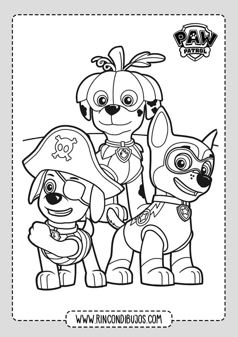 Dibujos para Pintar de Patrulla Canina