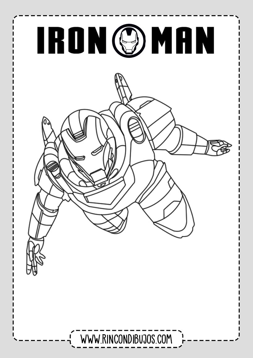 Dibujos para pintar de Iron Man