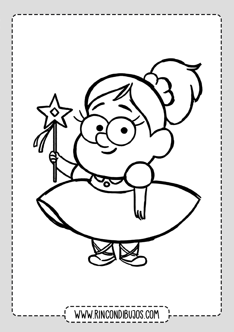 Dibujos personajes Gravity Falls