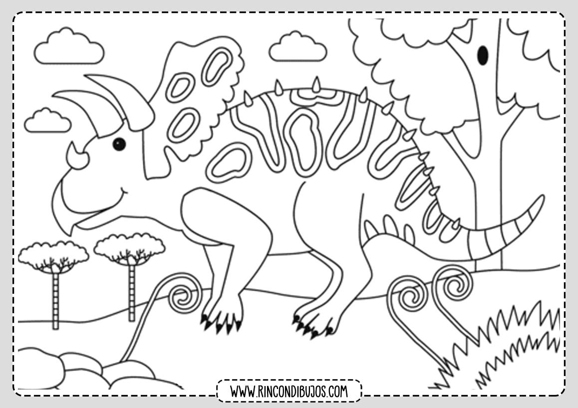 Dinosaurios Lamina para Colorear