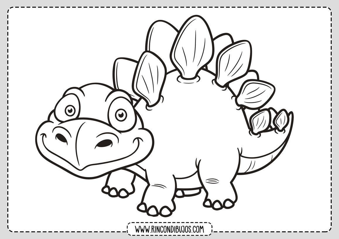 Dinosaurios Para Colorear Para Ninos Rincon Dibujos