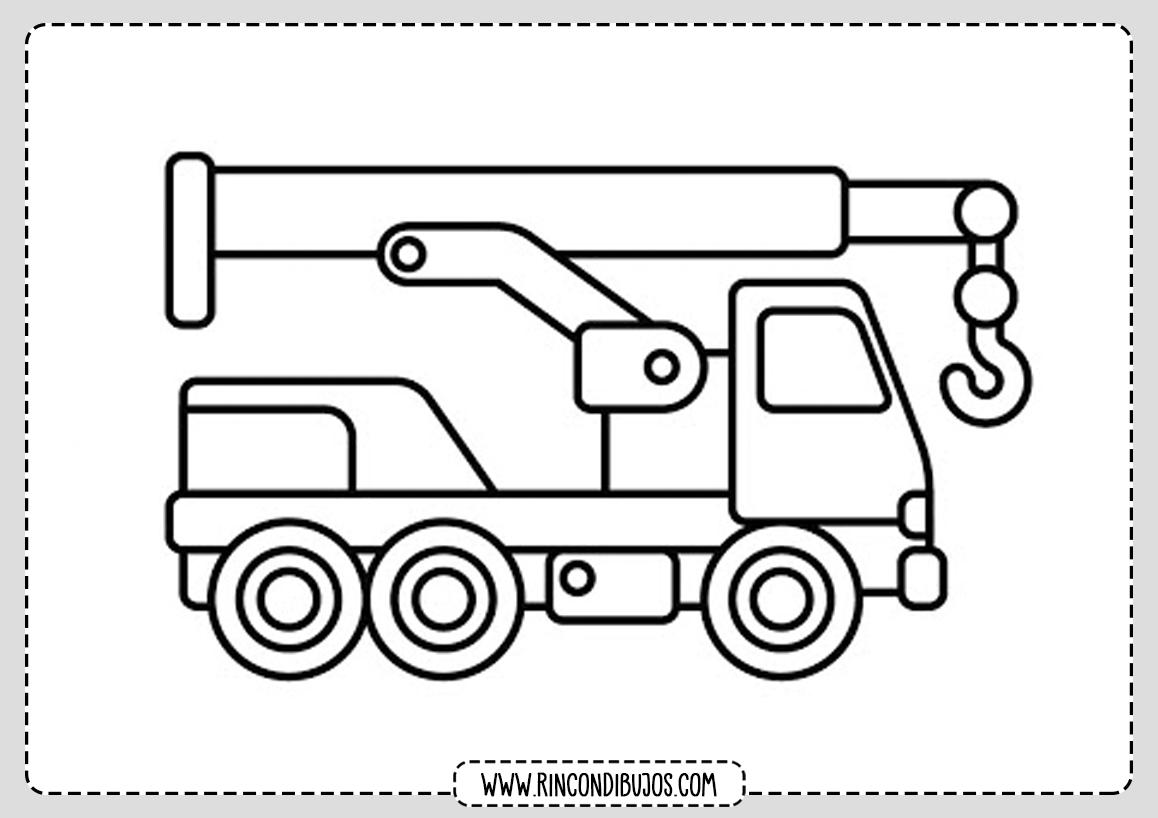 Faciles Dibujos de Camiones para Pintar