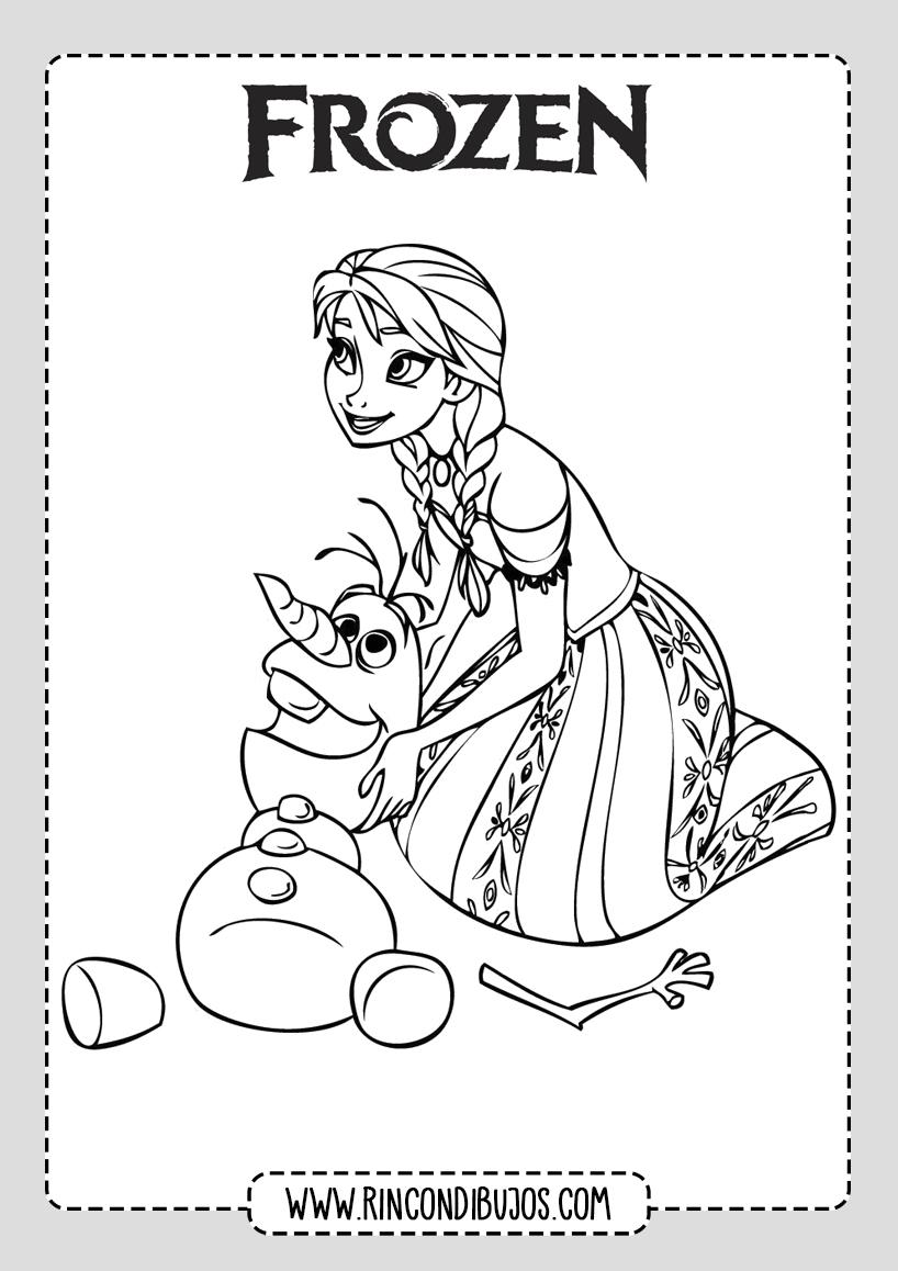 Frozen Colorear Anna Y Olaf Rincon Dibujos