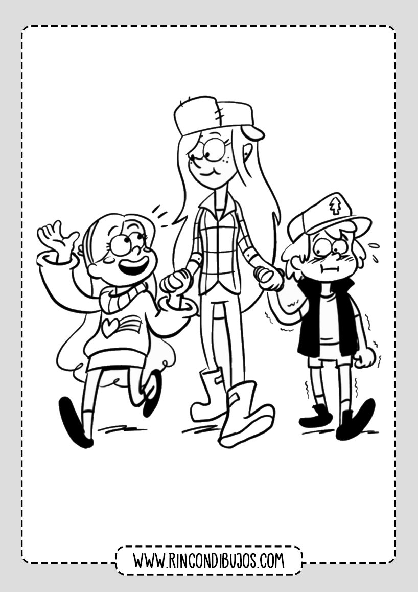 Gravity Falls Drawings Coloring Pages