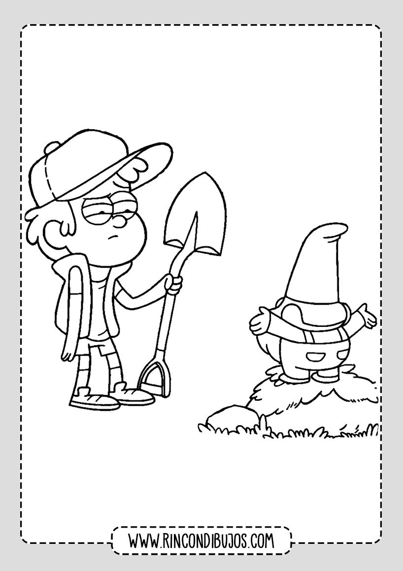 Gravity Falls drawings for coloring