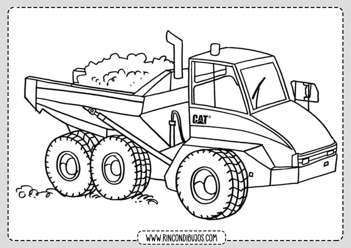 Imprimir Dibujos de Camiones y Colorear