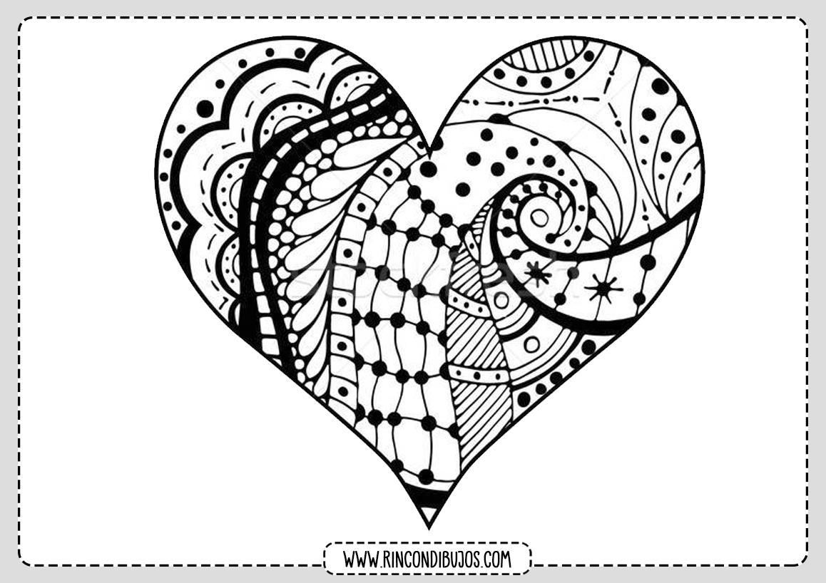 Mandala Dibujo Corazon