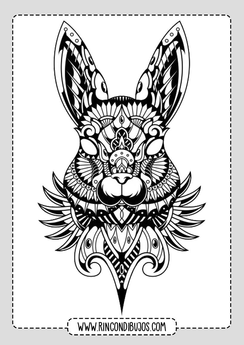 Mandalas de Animales Conejo