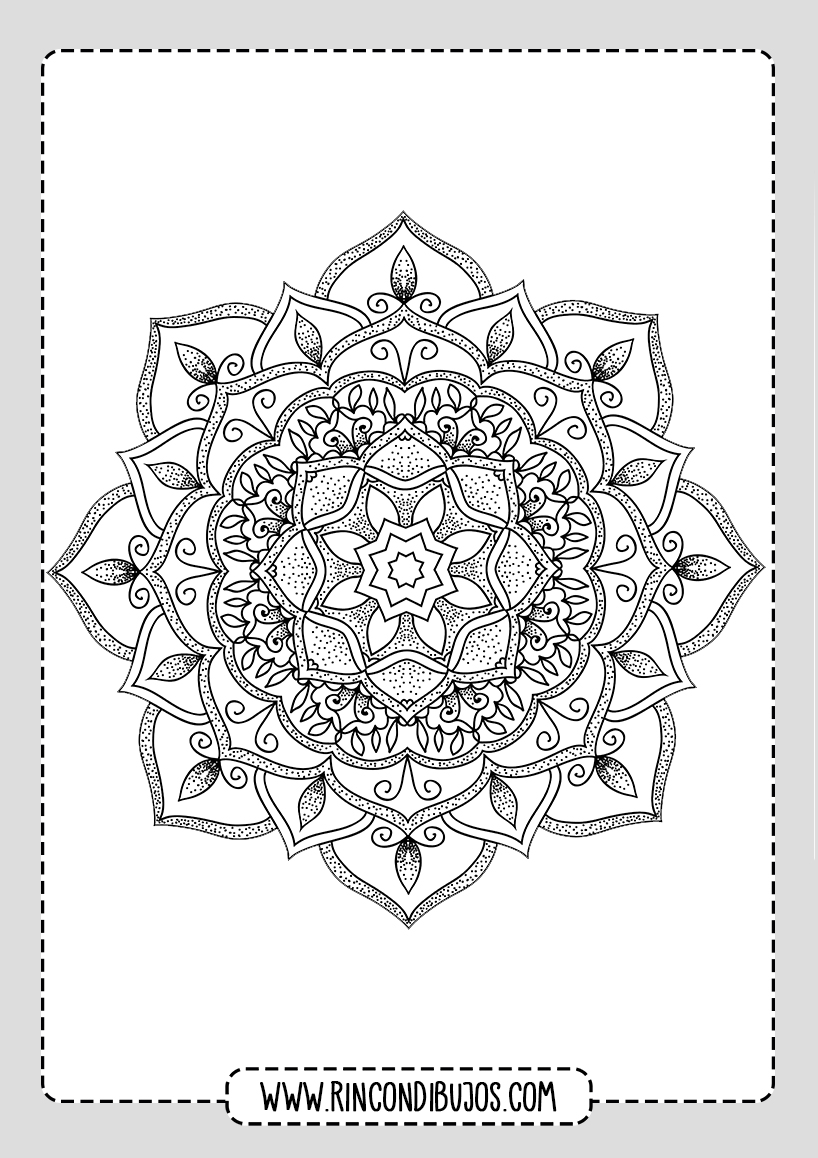 Mandalas de Flores de Loto para colorear