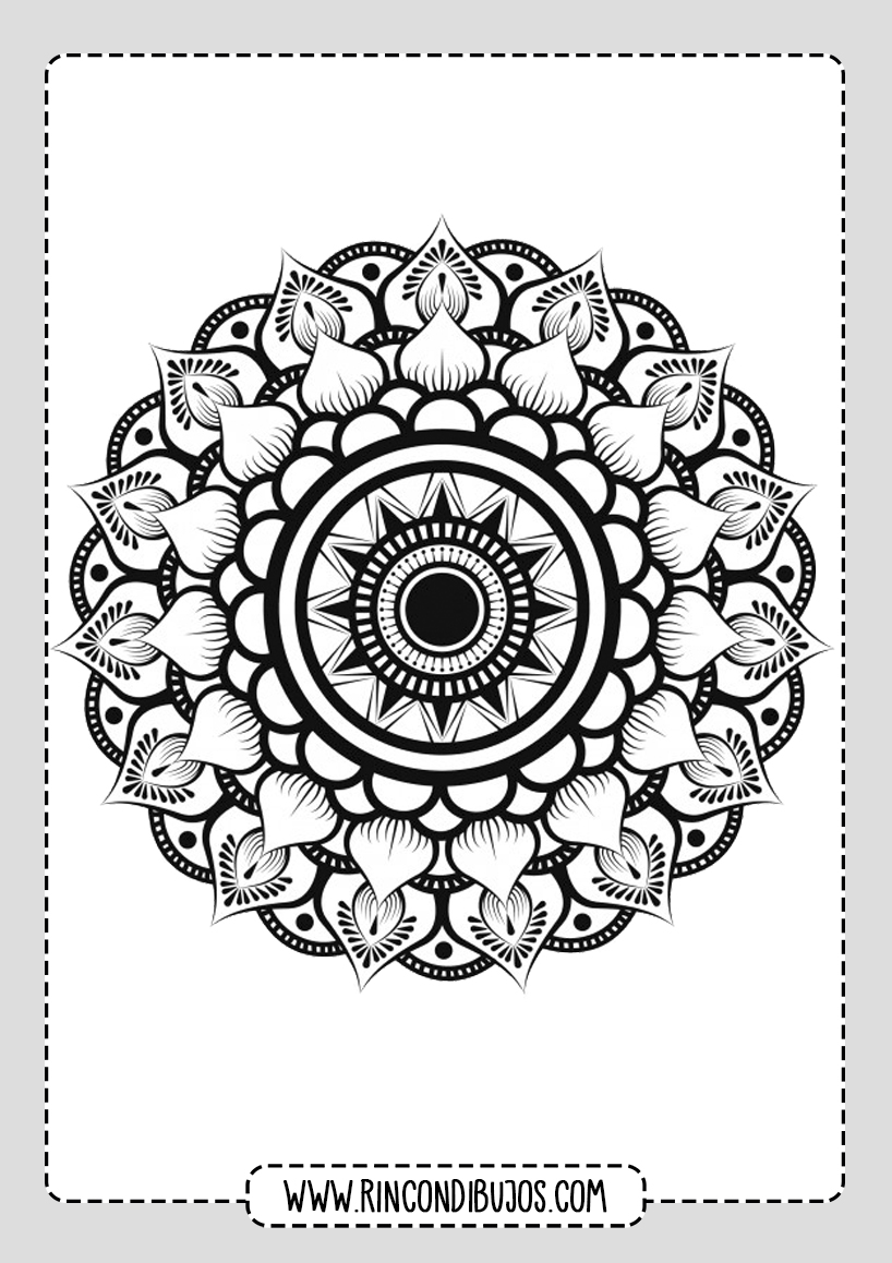 Mandalas de Flores para colorear Gratis