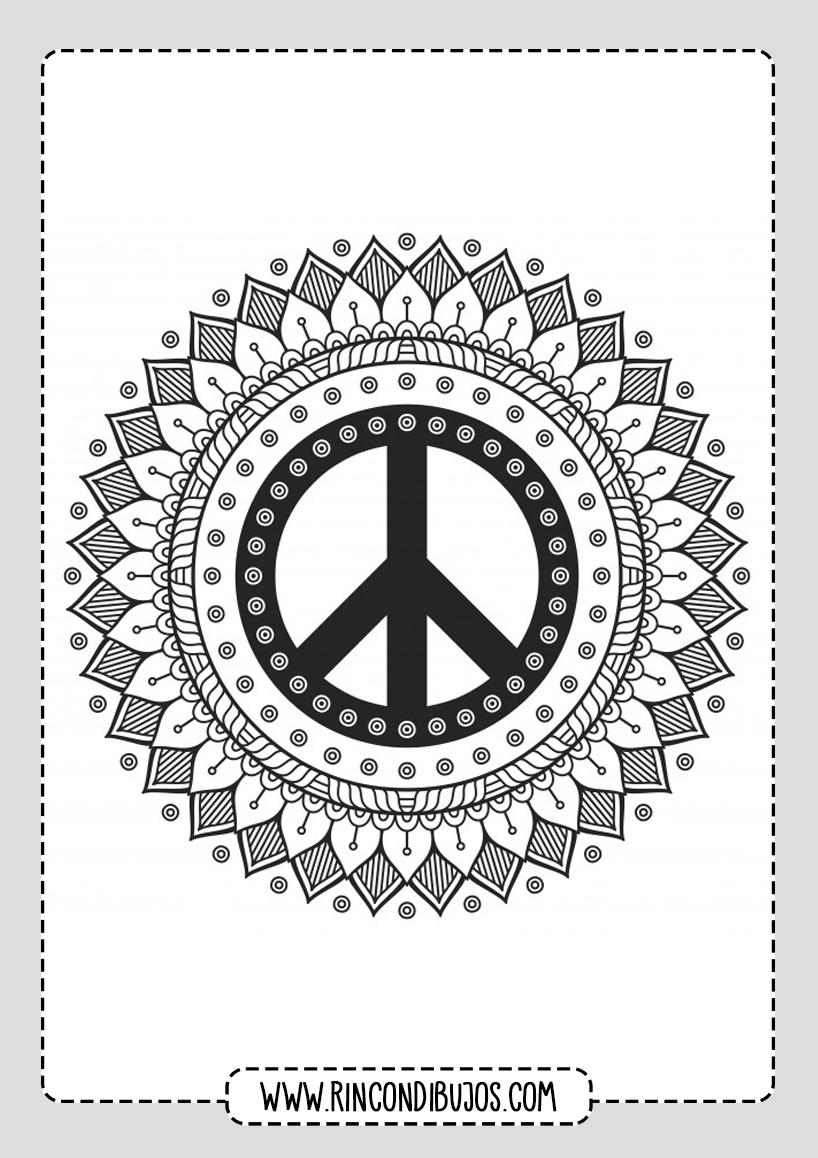Mandalas de Flores y circulares para colorear