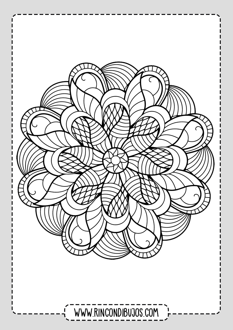 Mandalas para colorear de Flores