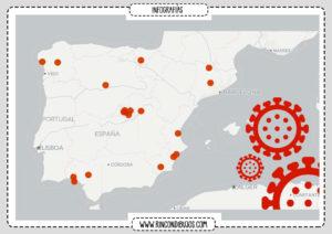 Mapa Coronavirus en España