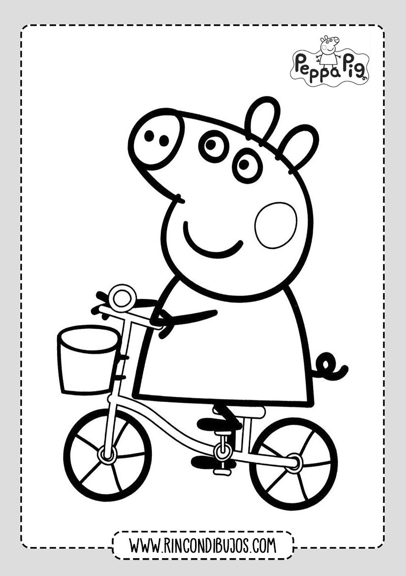 Peppa Pig Para Colorear y Dibujar