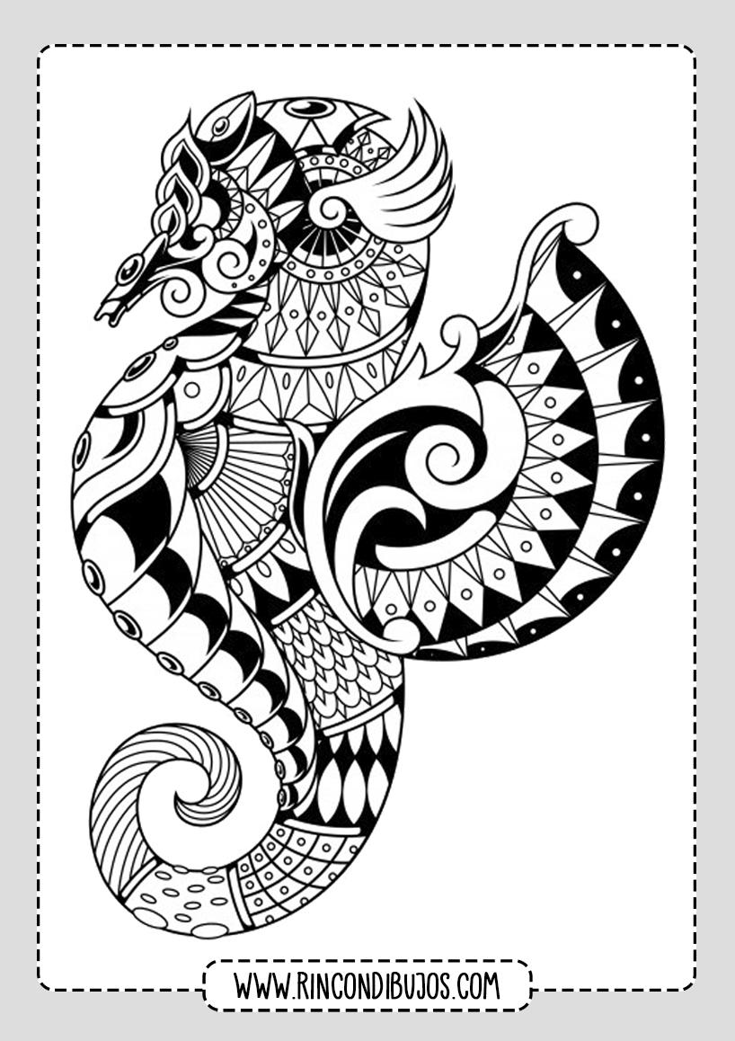 Preciosos Mandalas de Animales para Colorear
