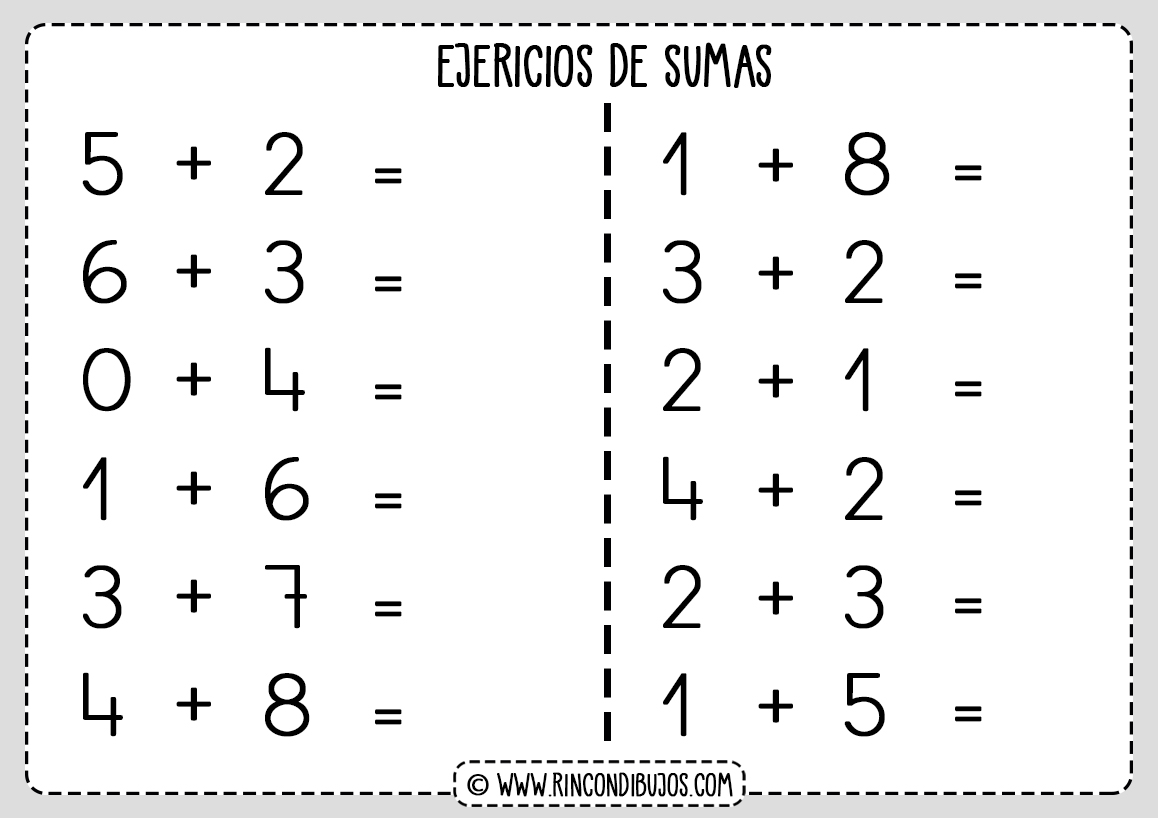 Sumas Faciles Calculo Mental Matematicas