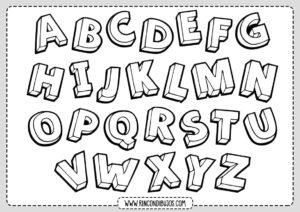 Todas las letras para colorear