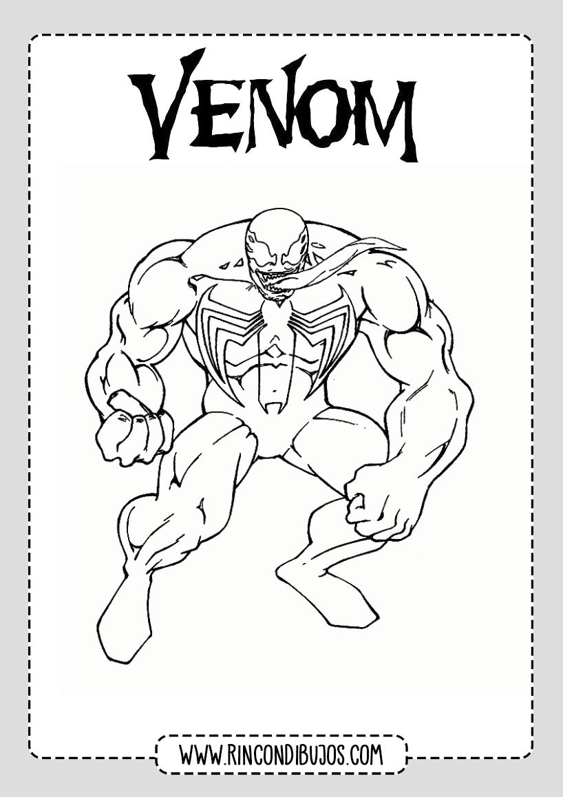 Venom Colorear Dibujos Gratis