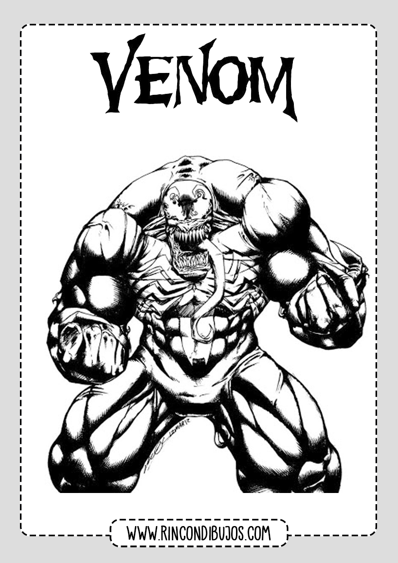 Venom Drawings for Coloring