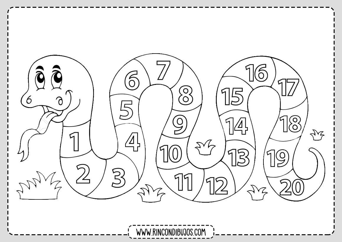 Aprender Y Colorear Numeros Rincon Dibujos