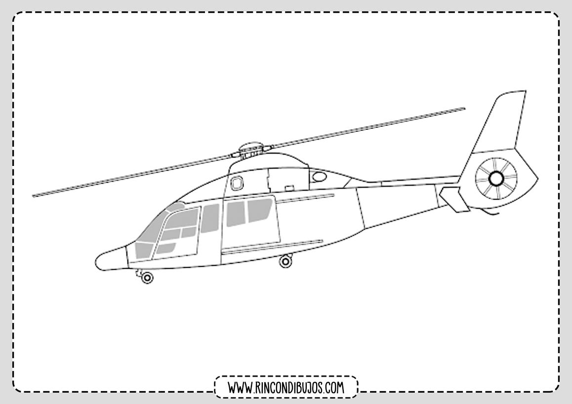 Bonitos Helicopteros para colorear