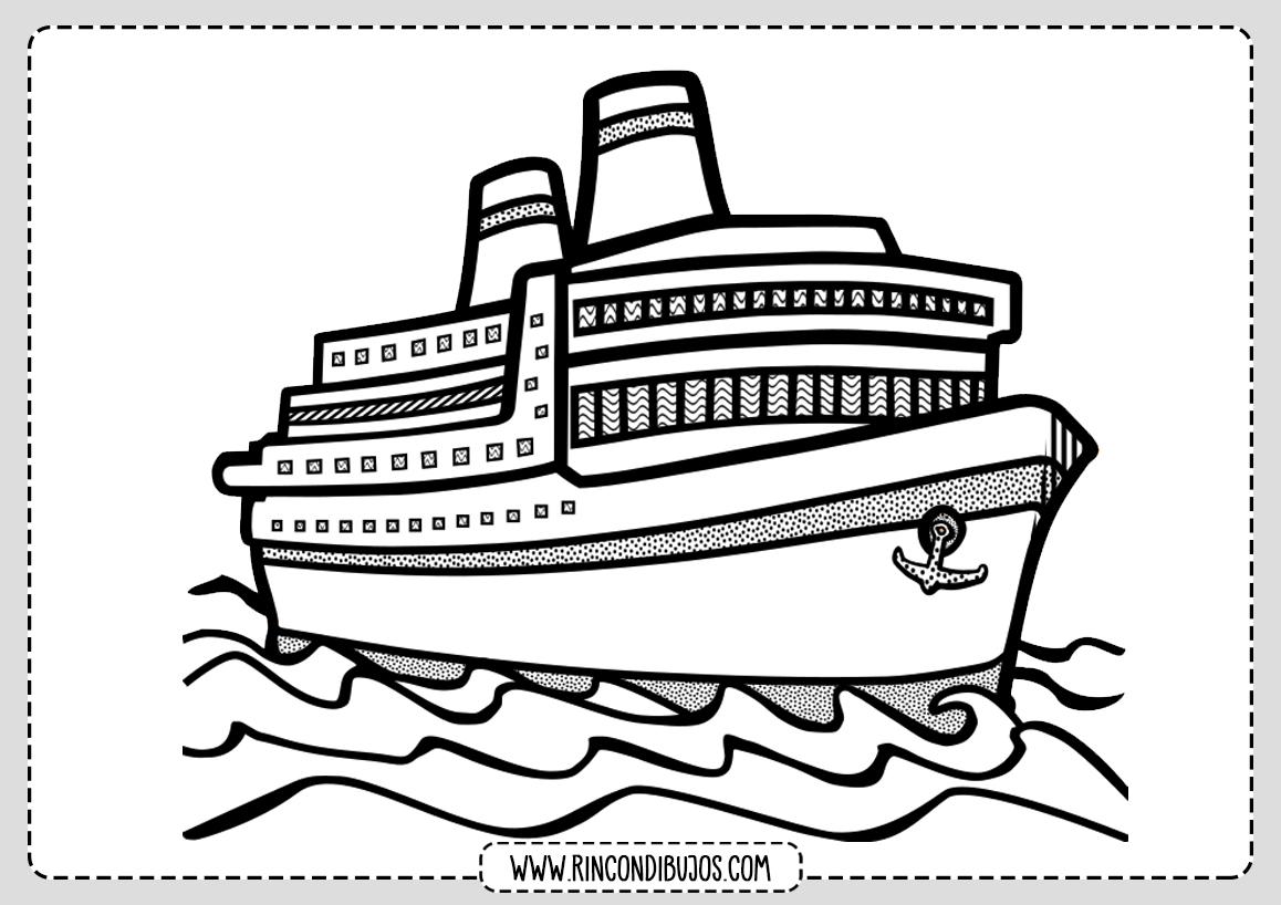 Colorear Barco Dibujos