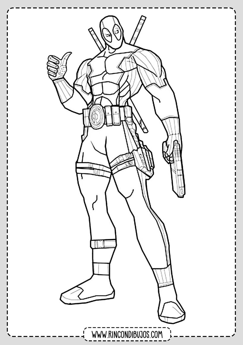 Colorear Deadpool Dibujo
