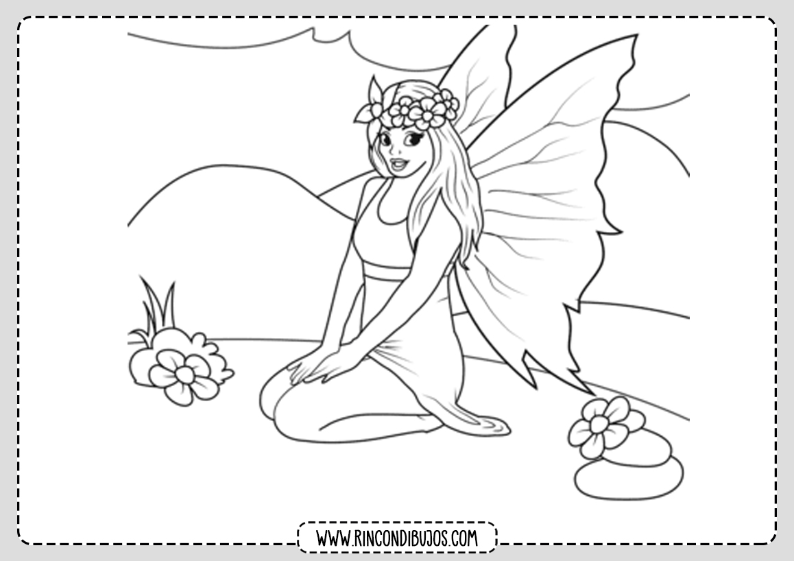 Colorear Dibujos de Hadas