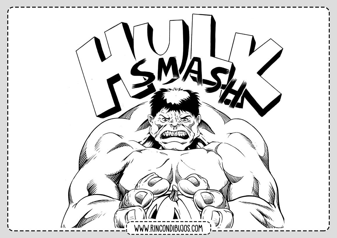 Colorear Dibujos de Hulk