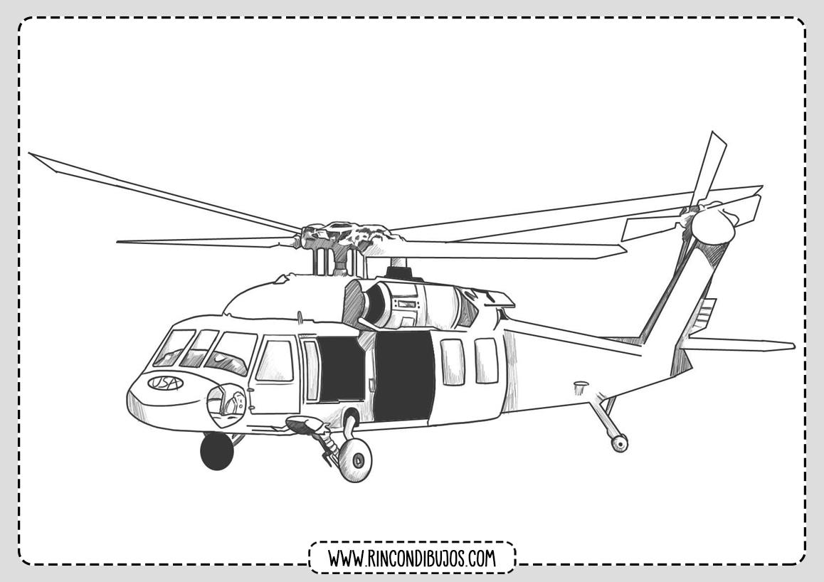 Colorear Helicopteros