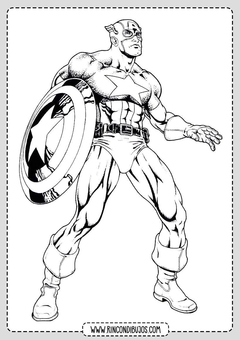 Como dibujar el Capitan America